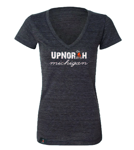 UpNorth Michigan - Ladies V-Neck Tee