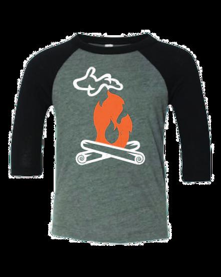 Michigan Campfire - Toddler Baseball Tee