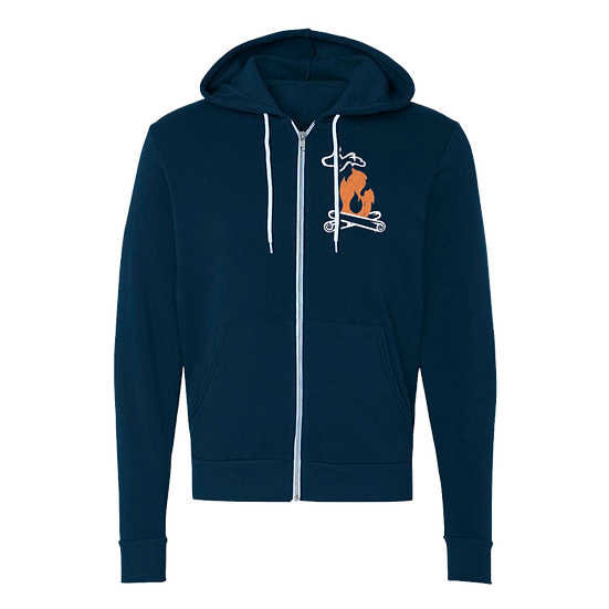 Michigan Campfire - Unisex Zip-Up Hoodie
