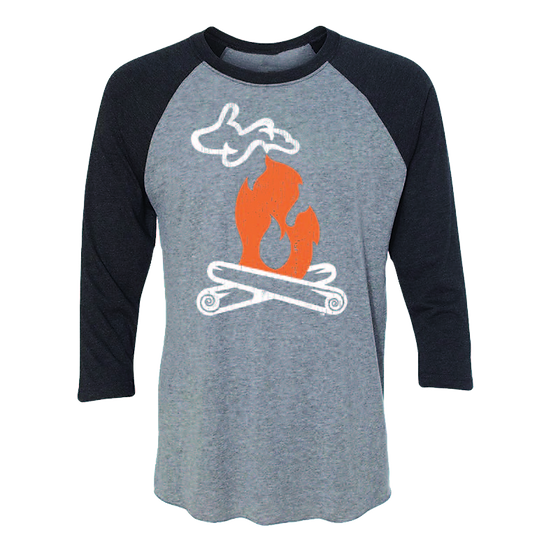 Michigan Campfire - Unisex Baseball Tee
