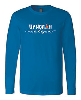 S1307R Unisex Long Sleeve Script Royal.j