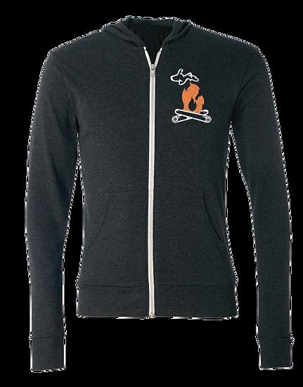 Michigan Campfire - Unisex Triblend Lightweight Zip Hoodie