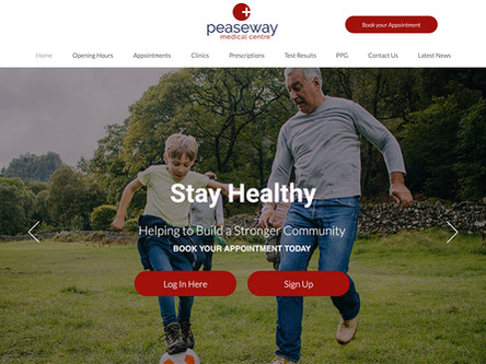 Our New Peaseway Medical Centre Website Is Live