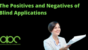 The Positives and Negatives of Blind Applications