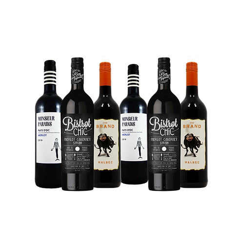 Foxy's Full & Fruity Red Selection - 6 Bottles