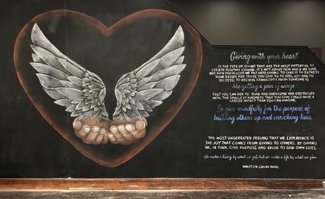 Giving Chalk Mural