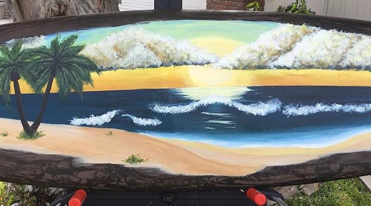 Beach Scene Surfboard
