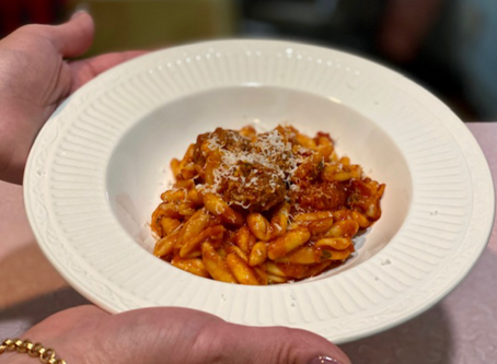 Cavatelli with Mini Meatballs