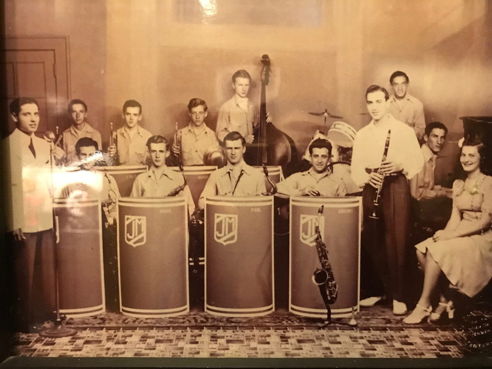Aunt Norma and her big band. Apparently this was when she was not a great cook. I doubt that.
