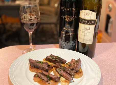 Grilled Skirt Steak Crostini
