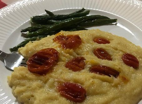Savory Polenta with Roasted Tomatoes