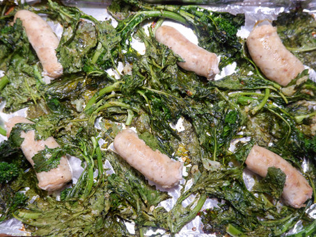 Roasted Broccoli Rabe with Chicken Sausage
