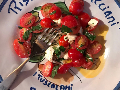 Minty Tomato & Mozzarella Salad