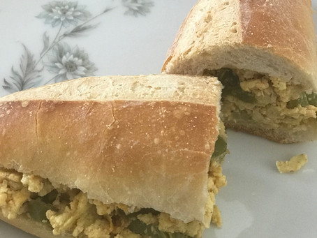 Pepper and Egg Sandwich