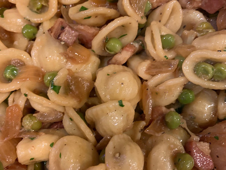 Orecchiette with Peas and Pancetta
