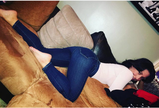 casually couch crawling in my CoCo Dooper Denim