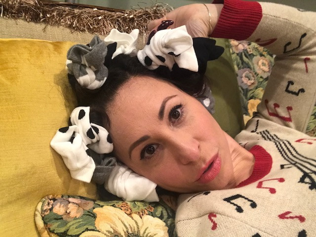 It's so glamorous to set your hair with socks!