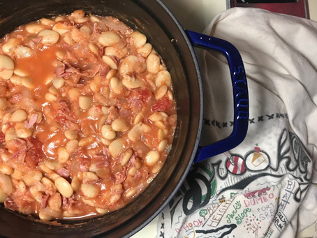 Saucy Butter Beans with Prosciutto
