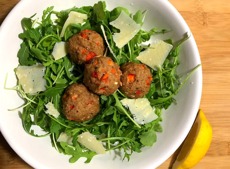 Red Pepper & Olive Tapenade Meatballs