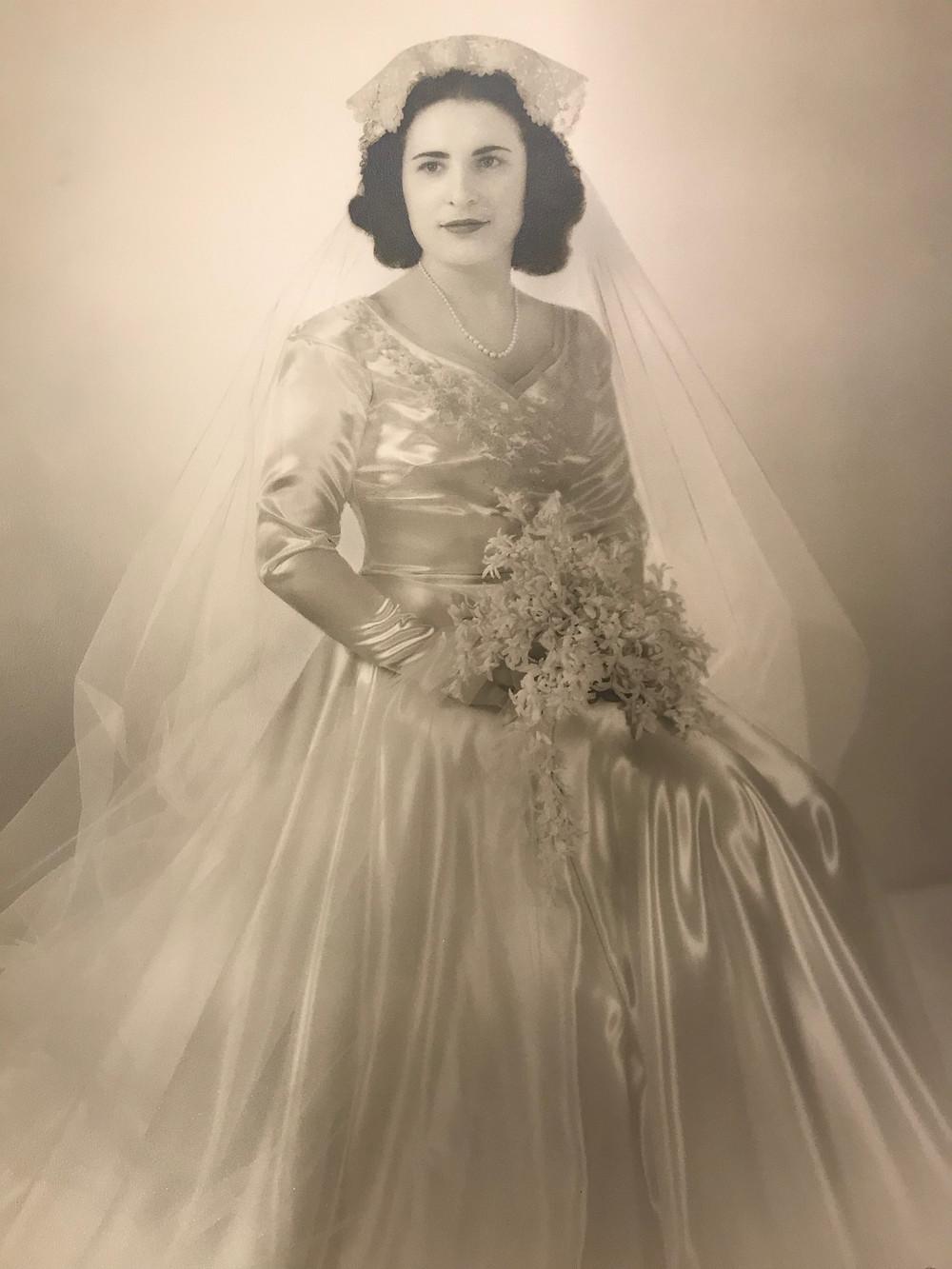 Grandmom Mary on her wedding day
