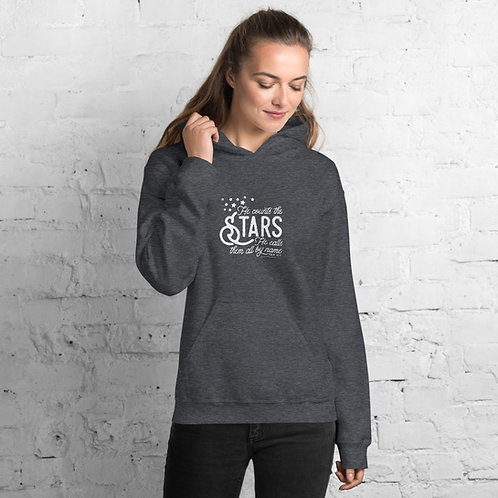 He Counts the Start and He Knows them by Name- Unisex Hoodie