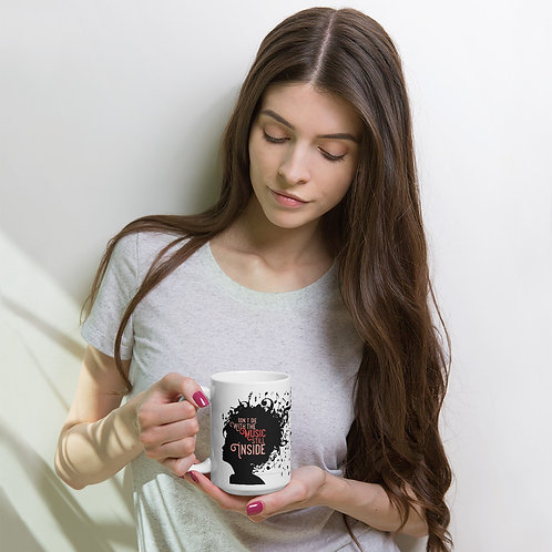 Don't Die With The Music Still Inside! White glossy mug