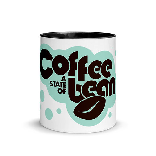 Coffee A State of Bean. Mug with Color Inside