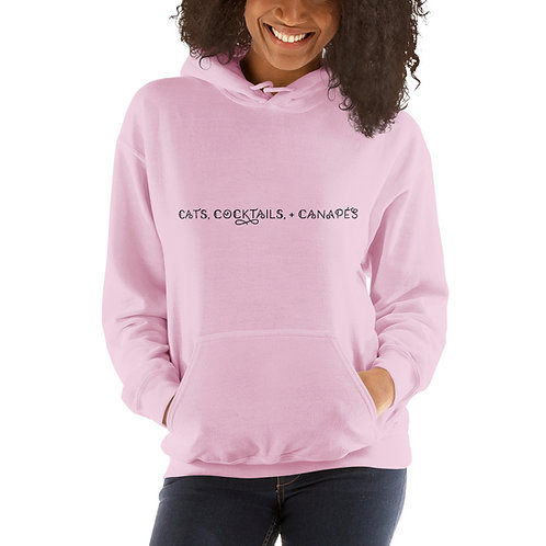 Cats, Cocktails, + Canapes - Unisex Hoodie