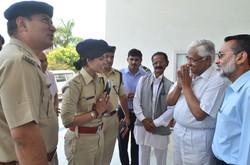 SP Sirmaur with Chairman Dental College Paonta Sahib