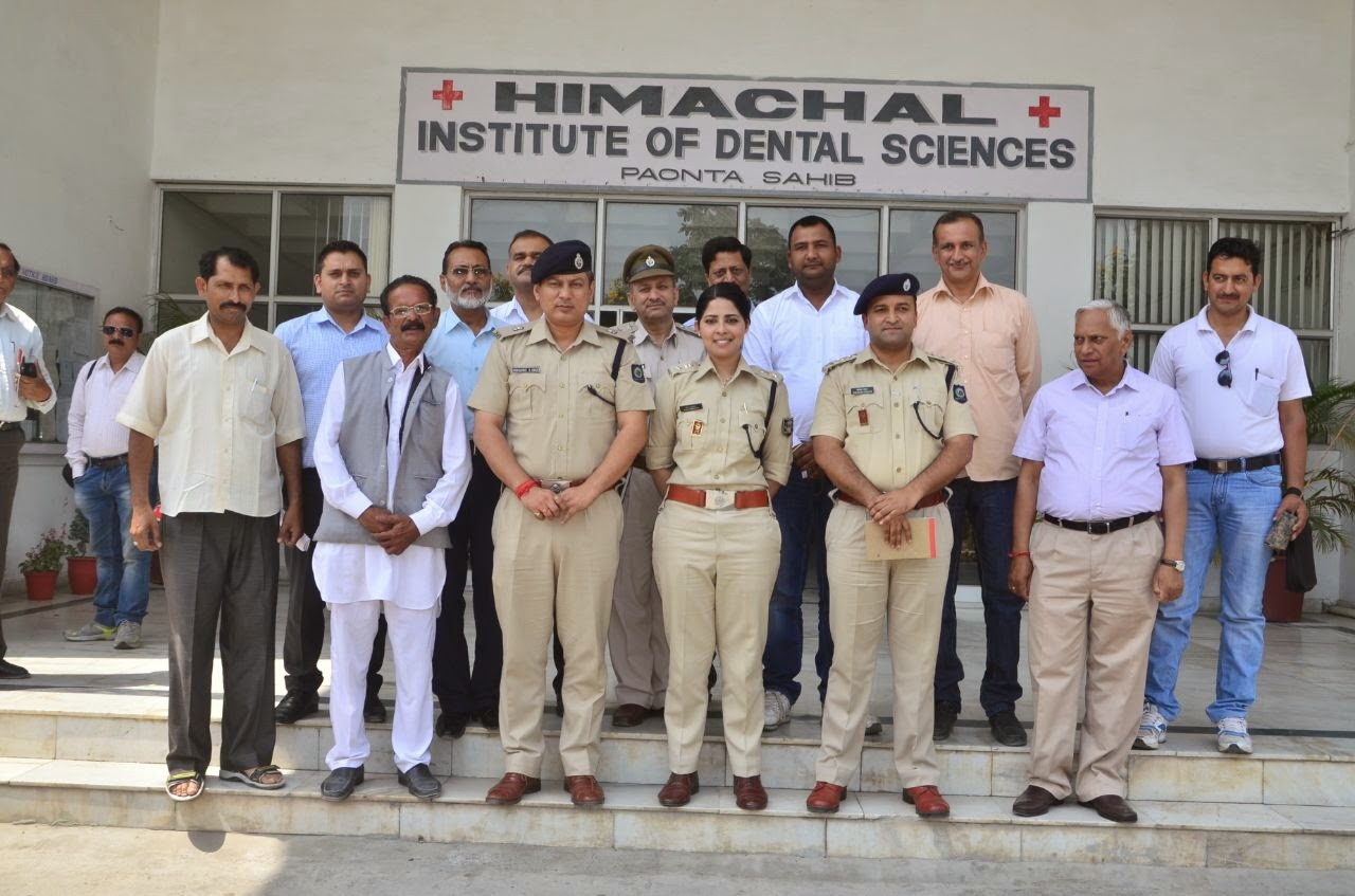 SP Sirmaur at Dental College Paonta Sahib