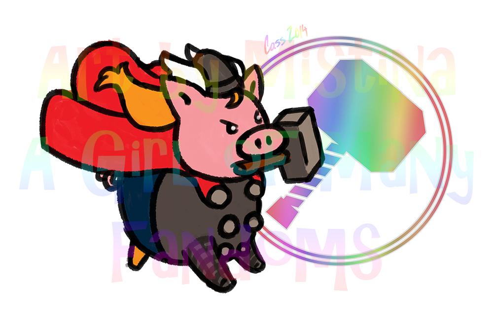 Pig Avengers: Thor Boar!