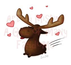 Lovestruck Moose