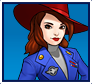 "A gif set featuring, rank 05, Agent Carter ( a.k.a. Peggy Carter ) from the Marvel Comics phone game ""Avengers Academy""."