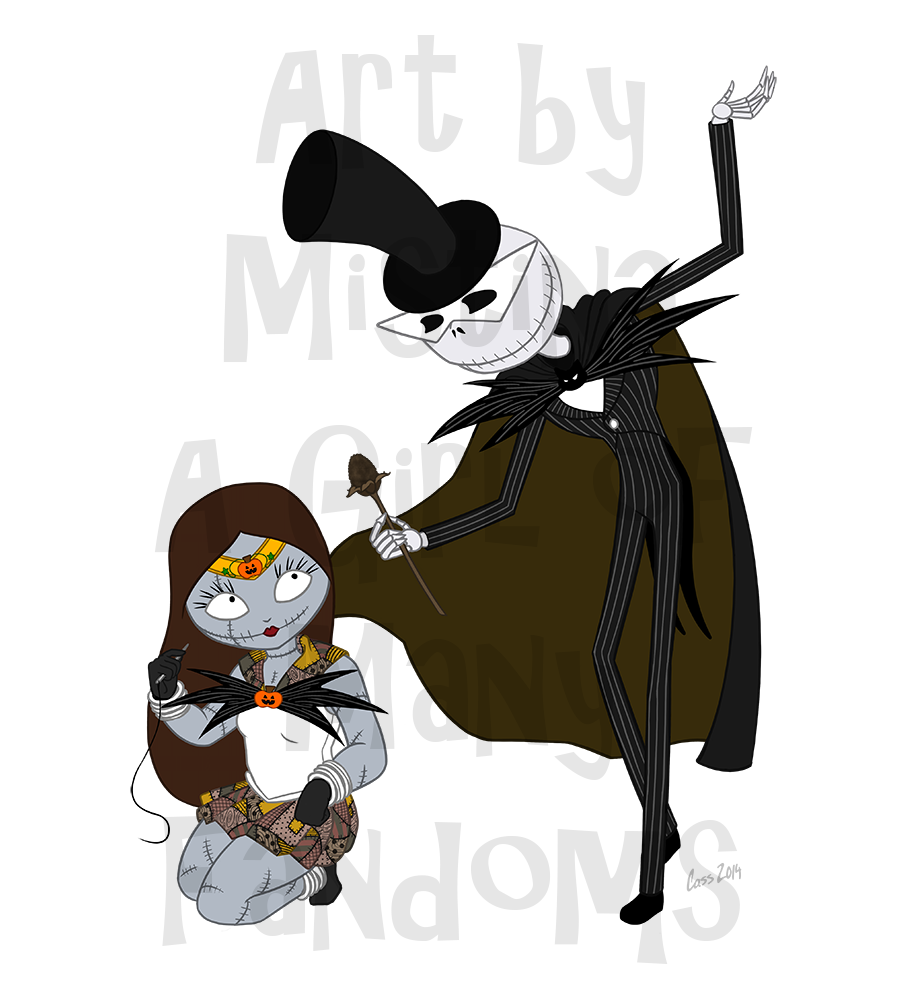 Sailor Sally & Tuxedo Skellington