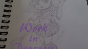 "Art W.I.P.: ""Sailor Moon"" Chibis"
