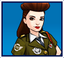"A gif set featuring Agent Carter ( a.k.a. Peggy Carter ), in her Agent uniform, from the Marvel Comics phone game ""Avengers Academy""."