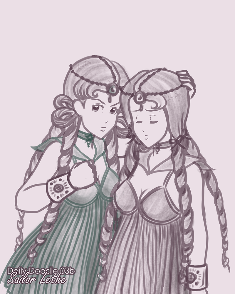 Sailor Lethe and Sailor Mnemosyne