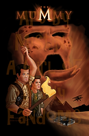 """Parody of the movie poster for""""The Mummy"""". Fan Artwork of Castiel & Dean Winchester from""""Supernatural""""."""