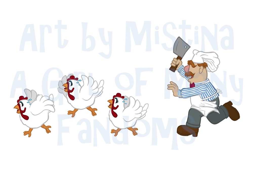 Swedish Chef Chases Chickens