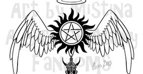 My Art: Destiel & Sabriel Logos (UPDATED)