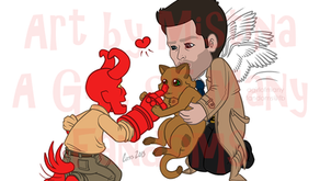 "Artwork Genesis: ""Hellboy Meets Castiel"""