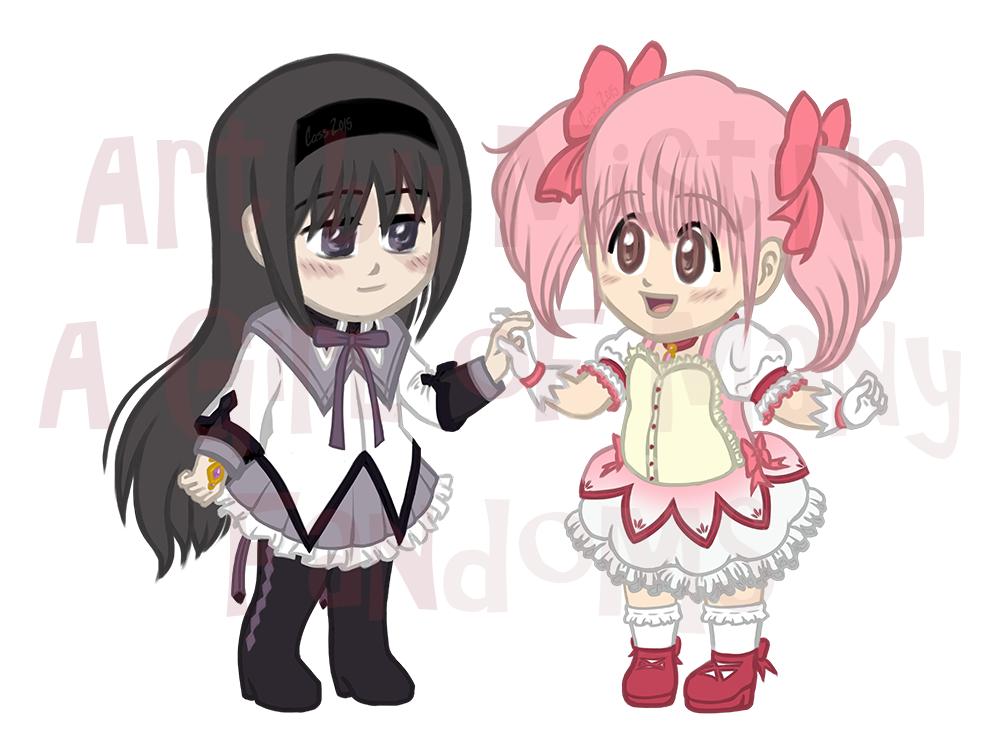 Homura Akemi and Madoka Kaname