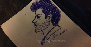 Art W.I.P.: Castiel Doodle