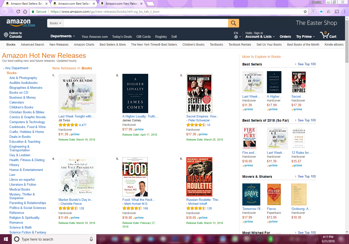"#1 Amazon ""Hot New Release"""
