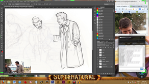 Art W.I.P.: 'Let's Draw SPN' 01