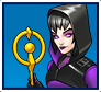 "A gif set featuring, rank 05, Sister Grimm ( a.k.a. Nico Minoru ) from the Marvel Comics phone game ""Avengers Academy""."