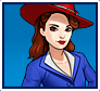 "A gif set featuring, rank 03, Agent Carter ( a.k.a. Peggy Carter ) from the Marvel Comics phone game ""Avengers Academy""."