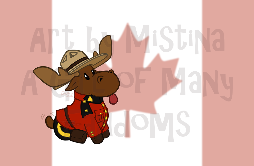 Mountie Moose: Original Flag