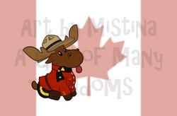 Mountie Moose: Original Flag