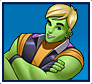 "A gif set featuring, rank 03, Hulkling ( a.k.a. Teddy Altman ) from the Marvel Comics phone game ""Avengers Academy""."